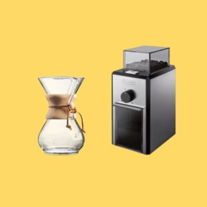 Kit Cafetière Chemex + Moulin électrique + Café Bio + Filtres